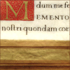 quillori: old book, text contains the word 'memento' (note: remember)