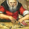 quillori: detail of craftsman from an old book illustration (theme: craft)