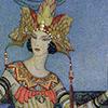 quillori: detail of an illustration of Scherezade (theme: fairy tales (scherezade), theme: storytelling, stock: scherezade)