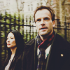 venusinthenight: joan watson and sherlock holmes walking down the street (elementary - sherlock/joan)