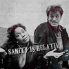 green: zoe and mal from firefly with the caption 'sanity is relative' (firefly: sanity is relative)