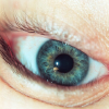 ext_227: A close up of eye, upside down. (eye)
