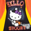 "ilyena_sylph: the 2012 Halloween Hello Kitty ""Hello Spooky"" on a black, yellow, and orange background. (hello kitty: halloween)"