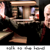 jayabear: Spike from Buffy: Talk to the hand (talk to the hand)