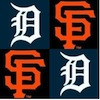 firecat: sf giants logo and detroit tigers logo (2012 baseball)