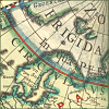 quillori: detail of the Arctic Circle from an old map (theme: travel (arctic), subject: map (arctic), stock: arctic map)