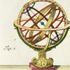 quillori: illustration of an orrery (theme: astronomy (orrery), theme: science (astronomy))