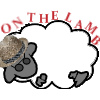 jjhunter: A sheep with shaded glasses and a straw hat lies on its side; overhead floats the pun 'on the lamb' (as in baby sheep). (on the lamb)