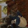 ms_norrington: little moria hugging luna the cat (Default)