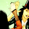 teigh_corvus: ([Comics] Zantanna high-five)
