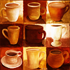 fish_echo: a mosiac of nine different cups holding hot cocoa (Tea-9 hot cocoa cups)