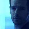gwyn: charlie on blue background (CJ sad charlie)