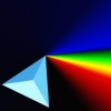 facetofcathy: Faceted prism shown refracting light into the visible spectrum (Spectrum)