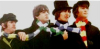 onyxlynx: Image: The four Beatles with a scarf changing color around their necks. (Beatles icon)