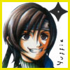 tyger: FFVII!Yuffie, grinning.  Text: Yuffie (Yuffie - :D)