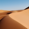 avaragarda: A dune crest in Erg Chebbi, Morocco, under a blue sky (and the moment's gone)
