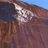 avaragarda: An upshot of a cliff with desert varnish in Horseshoe Canyon, Canyonlands National Park (don't hang on)