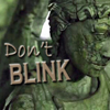 """rhi: Angel statue's face, eyes closed.  """"Don't blink."""" (don't blink)"""