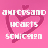 sofiaviolet: ampersand hearts semicolon (ampersand hearts semicolon)