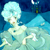 outlineofash: Illustration of Cinderella leaving a slipper behind as she runs away. Artwork by maryanneleslie on deviantART. (Literature - Folk Tale)
