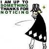 "caelz: Kisuke looking sneaky with the words ""I am up to something, thanks for noticing..."" (Nothing But Trouble)"