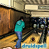 druidspell: Me, bowling at a family reunion, with my username inset in the bottom right corner. The blurriness is intentional. (Default)