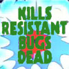 "invisionary: ""Kills Resistant Bugs Dead"" superimposed over cartoon explosion. (RAID!)"
