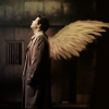 gblvr: a manip of Castiel with wings (SPN -- winged Castiel)