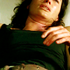 goodbyebird: Sarah Connor Chronicles: Close-crop of Sarah on a hotel bed, wounded. (SCC on your feet soldier)