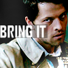 "objectivelypink: Castiel looking fierce w/ text ""BRING IT"" (bring it)"