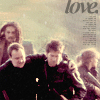 "juniperphoenix: John, Rodney, Ronon, and Teyla on a mission; text says ""love."" (SGA: Team 2)"