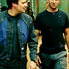 juniperphoenix: John and Rodney walking down the hall together (SGA: Unbeatable Action Team)