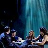 juniperphoenix: John, Rodney, Ronon, and Teyla in the mess hall (SGA: Family)