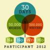 arrowsforpens: NaNoWriMo 2012 participant badge (NaNo 2012)