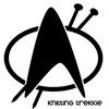 aunty_marion: Star Trek badge with added knitting needles (Knitting Trekkie)