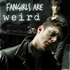 gigglingkat: When the working day is done  Girls want to have fun (fangrrrls: Fangirls are weird)