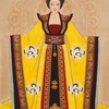 halialkers: Wu Zetian, Empress in yellow robes frontal view (Wu Zhao)