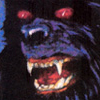 halialkers: Black dog ghost with red eyes of doom (Nelson Marks)
