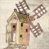 quillori: illustration of a windmill (mood: tilting at windmills)