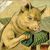 quillori: illustration of a pig playing the accordion (comment: not that it's done well)