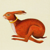quillori: illustration of a running hare with a gold circlet round its neck (theme: fanfic (plot bunny))