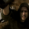 gtfostalker: A thin-faced man in a hood reaches for something off-screen (Grasping)