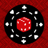 actionreaction: a six-sided red and white die on top of a poker chip ([inception] eames/arthur)