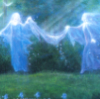 tranquilityseekers: blue dancers (friendship)