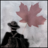 wychwood: Fraser walking away, with a maple leaf (due South - Fraser far from home)