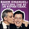 chatananas: colbert/emanuel (PAIRING: stephen rahm bipartisan)