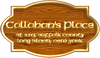 "kshandra: wood-and-brass plaque, reading ""Callahan's Place - Rt. 25A, Suffolk County - Long Island, New York"" (Callahan's)"