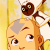 neigedens: aang and momo from ATLA (aang and momo)