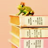 sharethelove: A frog with a crown sitting on a pile of books (Wishes do come true.)