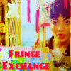 "fringe_exchange: Astrid peering in a window, text reads ""Fringe Exchange"" (Fringe Exchange: Astrid)"